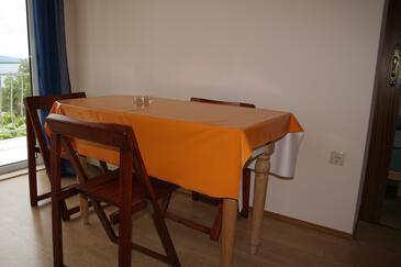 Novi Vinodolski, Jadalnia w zakwaterowaniu typu apartment, dostupna klima, dopusteni kucni ljubimci i WIFI.