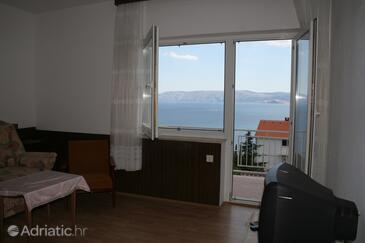 Novi Vinodolski, Living room in the apartment.