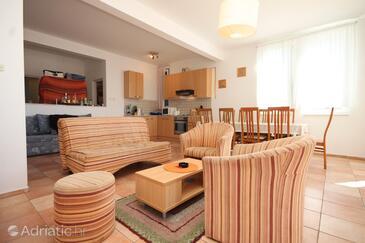 Komiža, Living room in the apartment.
