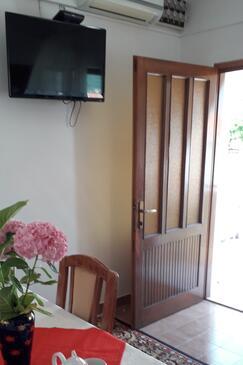 Vis, Jídelna v ubytování typu apartment, s klimatizací a WiFi.