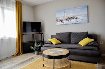 Povljana, Гостиная в размещении типа apartment, Домашние животные допускаются и WiFi.
