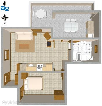 Rukavac, Plan in the apartment, dopusteni kucni ljubimci.