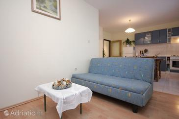 Vis, Living room in the apartment, air condition available, (pet friendly) and WiFi.