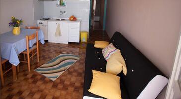 Zavalatica, Jídelna v ubytování typu apartment, dopusteni kucni ljubimci i WIFI.