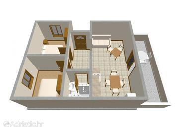 Zavalatica, Plan in the apartment, (pet friendly) and WiFi.