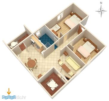 Artatore, plattegrond in the apartment, (pet friendly) en WiFi.