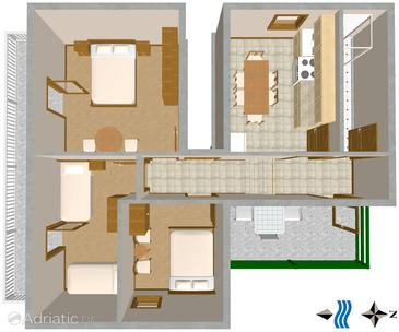 Vis, Plan in the apartment, WiFi.