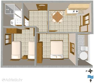 Rukavac, Plan in the apartment, (pet friendly).