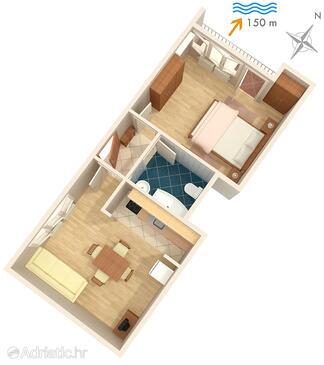 Mali Lošinj, Schema nell'alloggi del tipo apartment, animali domestici ammessi e WiFi.