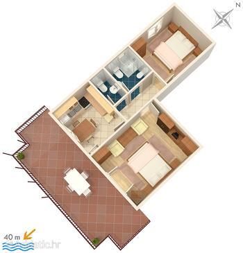 Mali Lošinj, План в размещении типа apartment, Домашние животные допускаются и WiFi.