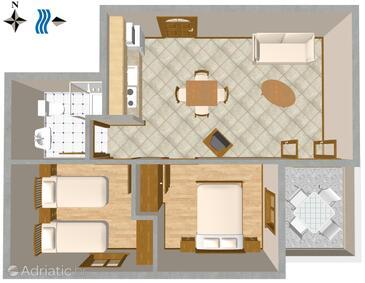 Mali Lošinj, Plan in the apartment, WiFi.