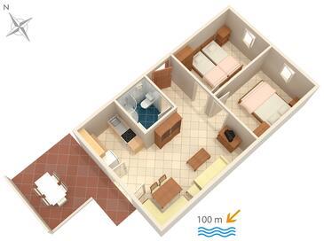 Artatore, Plan in the apartment, dopusteni kucni ljubimci i WIFI.