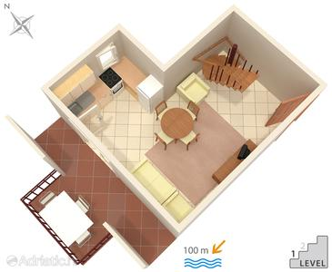 Artatore, План в размещении типа apartment, Домашние животные допускаются и WiFi.