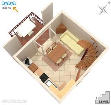Artatore, Nacrt u smještaju tipa apartment, kućni ljubimci dozvoljeni i WiFi.