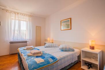 Cres, Ložnice v ubytování typu room, s klimatizací a WiFi.