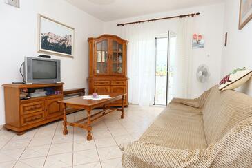 Žuljana, Obývacia izba v ubytovacej jednotke apartment, WIFI.