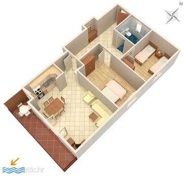 Umag, Plan in the apartment, (pet friendly) and WiFi.