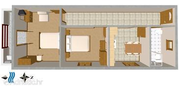 Novigrad, Plan in the apartment, dopusteni kucni ljubimci.