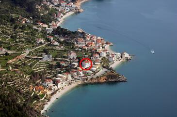Drašnice, Makarska, Objekt 2581 - Ubytovanie blízko mora s kamienkovou plážou.