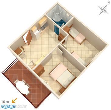 Jedra, Plan in the apartment, WiFi.