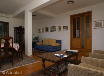 Drašnice, Living room in the apartment, dopusteni kucni ljubimci.