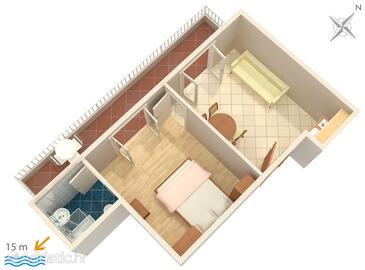 Promajna, План в размещении типа apartment, WiFi.