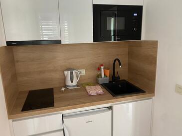 Promajna, Kuchyně v ubytování typu studio-apartment, WiFi.