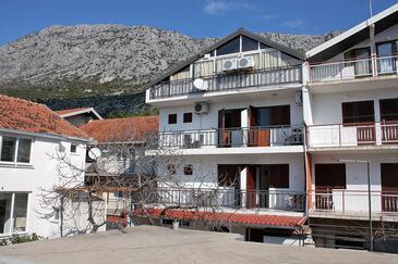 Podaca, Makarska, Objekt 2613 - Ubytovanie s kamienkovou plážou.