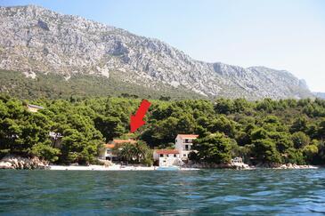 Zaostrog, Makarska, Szálláshely 2625 - Apartmanok a tenger közelében kavicsos stranddal.