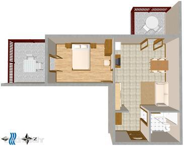 Bratuš, Plan in the apartment, WIFI.