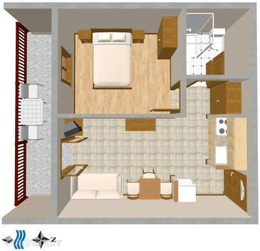 Bratuš, План в размещении типа apartment, WiFi.