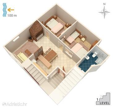 Makarska, План в размещении типа apartment, Домашние животные допускаются и WiFi.