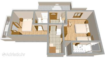 Orebić, Plan in the apartment, (pet friendly) and WiFi.