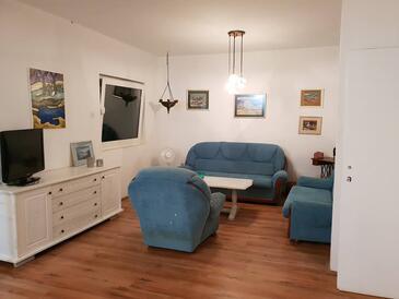 Orebić, Salon dans l'hébergement en type apartment, WiFi.