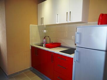 Promajna, Kitchen in the studio-apartment, dopusteni kucni ljubimci.