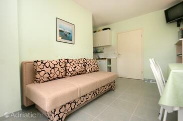 Promajna, Living room in the apartment, dostupna klima, dopusteni kucni ljubimci i WIFI.