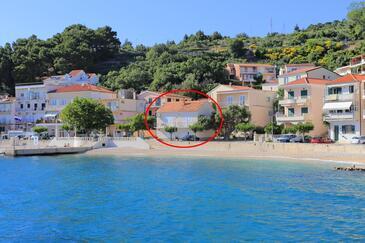 Podgora, Makarska, Objekt 2657 - Ubytování v blízkosti moře s oblázkovou pláží.