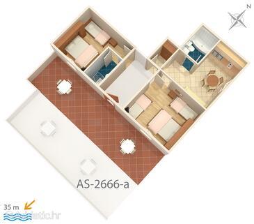 Tučepi, Plan in the apartment, WIFI.