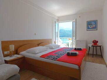 Slano, Ložnice v ubytování typu room, domácí mazlíčci povoleni a WiFi.