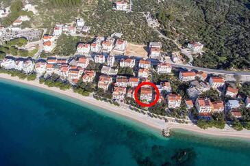 Tučepi, Makarska, Obiekt 2699 - Apartamenty przy morzu ze żwirową plażą.