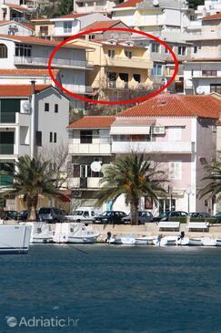 Baška Voda, Makarska, Objekt 2709 - Ubytování s oblázkovou pláží.