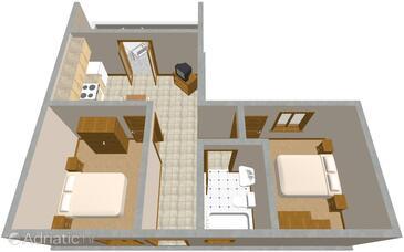 Orebić, Plan in the apartment, WiFi.