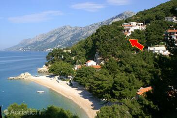 Brela, Makarska, Objekt 2713 - Ubytování v blízkosti moře s oblázkovou pláží.