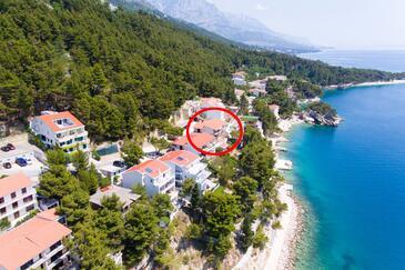 Brela, Makarska, Imobil 2718 - Cazare în apropierea mării cu plajă cu pietriș.