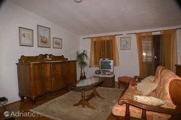 Drašnice, Obývací pokoj v ubytování typu apartment, s klimatizací a WiFi.