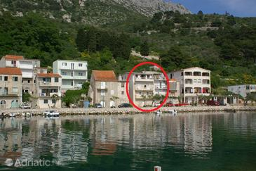 Drašnice, Makarska, Objekt 2722 - Ubytování v blízkosti moře s oblázkovou pláží.