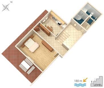 Omiš, Plan kwatery w zakwaterowaniu typu apartment, WIFI.