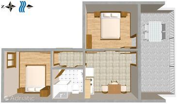 Duće, Plan dans l'hébergement en type apartment, WiFi.