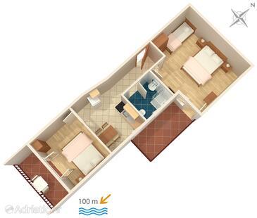 Pisak, План в размещении типа apartment, WiFi.