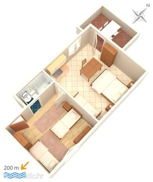 Omiš, План в размещении типа apartment, WiFi.
